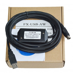 FX-USB-AW programming cable  for PLC programming FX3U FX3G PLC