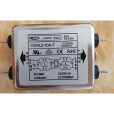 CW4L2-10A-T Single Phase Power EMI filter AC 115V / 250V 10A 50/60HZ