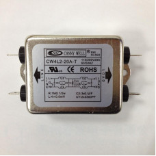 CW4L2-20A-T Single Phase Power EMI filter AC 115V/250V 20A 50/60HZ