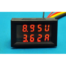 LED DC Dual display digital Current and voltage table Dual display digital meter 0-100V