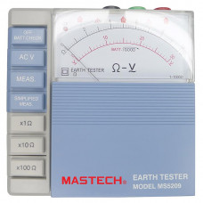 MASTECH MS5209 ANALOG EARTH RESISTANCE TESTER Pointer Ground Earth Resistance Test Meter Megger Megometro 10-1000 ohm