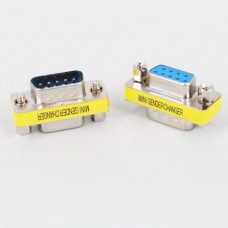 DB9 MINI Gender Changer adapter RS232 Com D-Sub to Male Female VGA plug connector 9pin