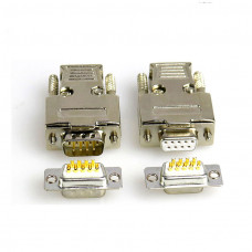 DB9 Metal connector adapter RS232 serial D Sub plug