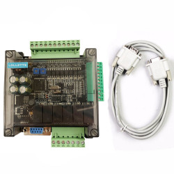 LE3U 14MR6AD2DA 8 input 6 relay output RS485 MODBUS RTU RTC