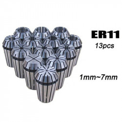 13Pcs ER11 Spring Collet Set For CNC Engraving Machine & Milling Lathe Tool