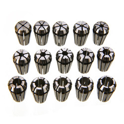 "15pcs CNC Engraving Machine ER11 Spring Collet Set 1-7mm & 1/8"" 1/4"""